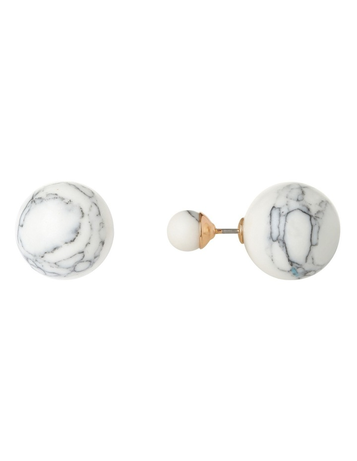 Peter Lang EA6605 Marble Skies Snow Stud Earrings