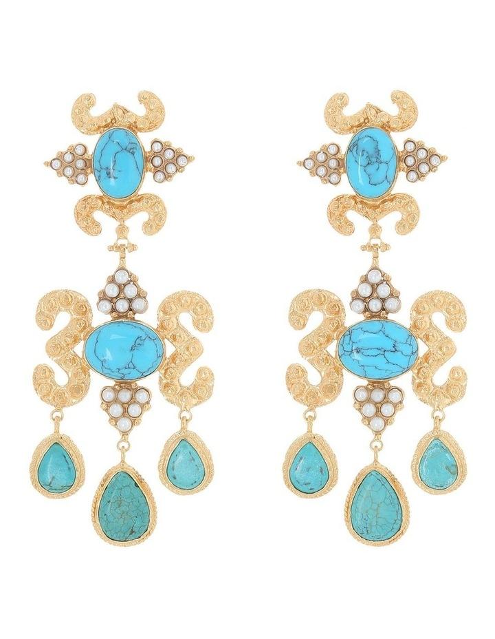 Aceline Earrings Turquoise image 1