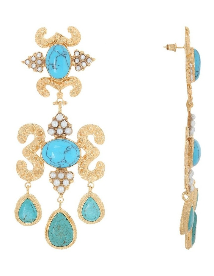 Aceline Earrings Turquoise image 2