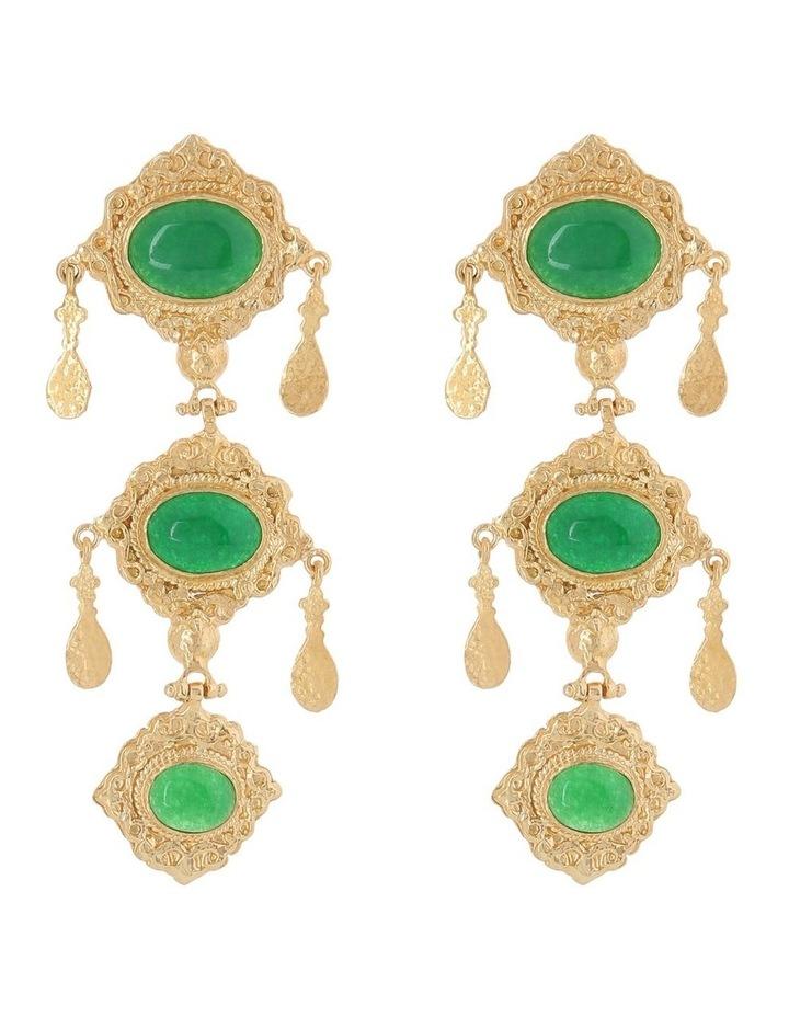 Anais Earrings Green image 1