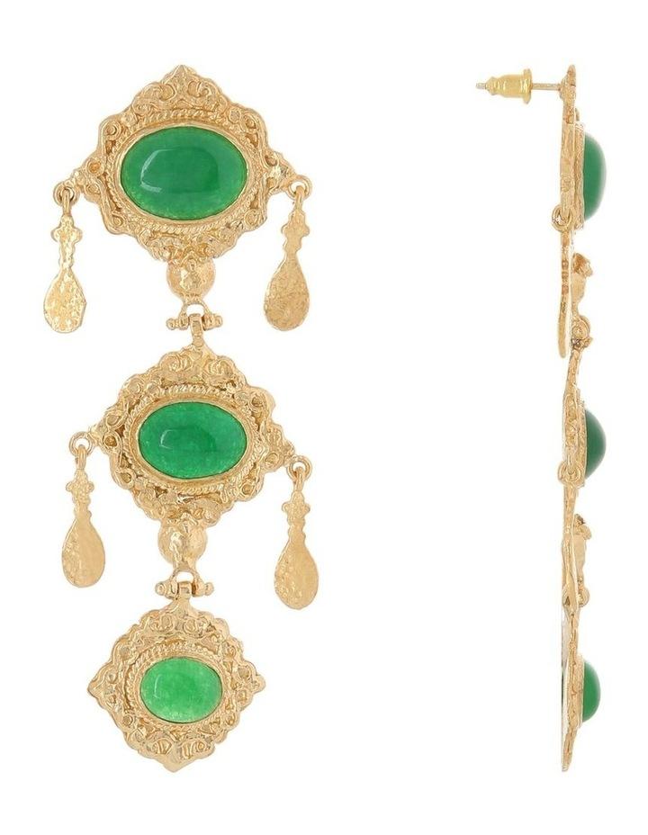 Anais Earrings Green image 2