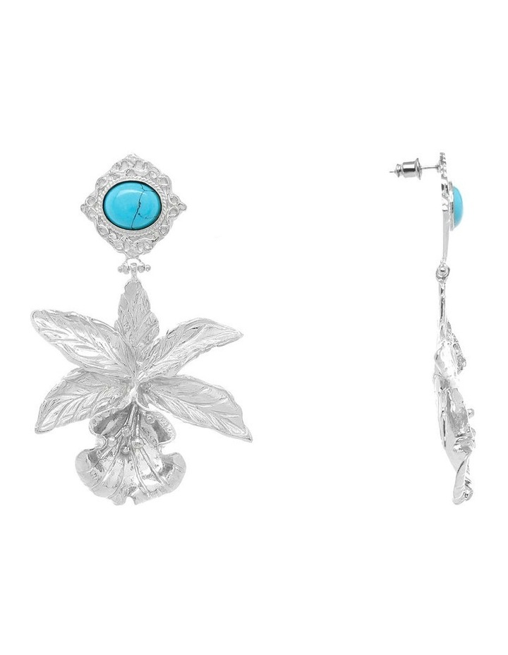 Aniella Earrings Silver with turquoise image 2