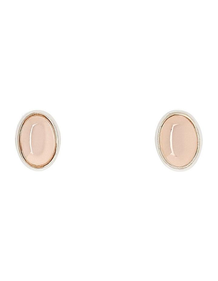 RFE01 sterling silver & gold filled 7mm x 5mm oval stud earrings image 1