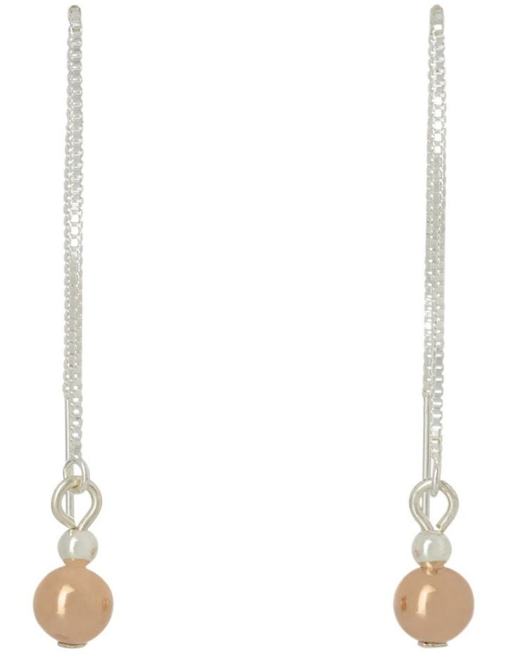 1153669ed Von Treskow | Sterling Silver Thread Earrings Wiht Gold Filled Ball ...