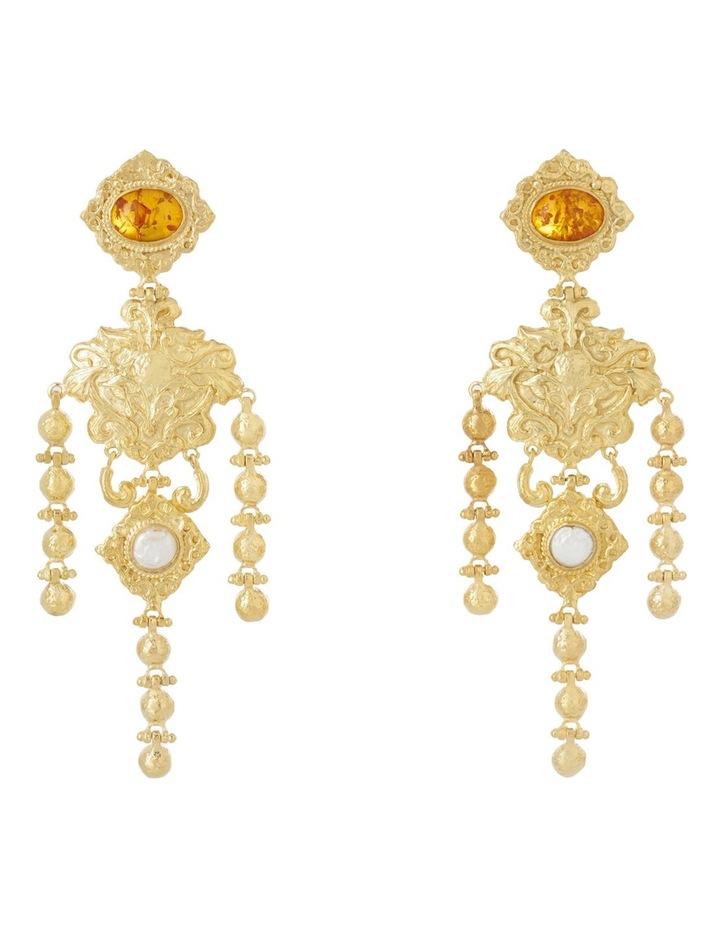 Angelique Amber Earrings image 1