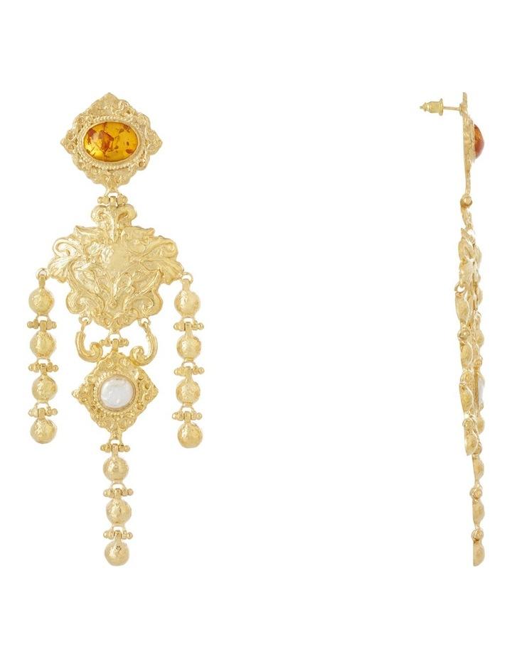 Angelique Amber Earrings image 2