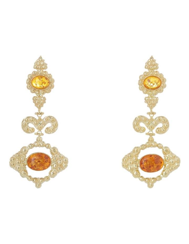 Delphine Amber Earrings image 1