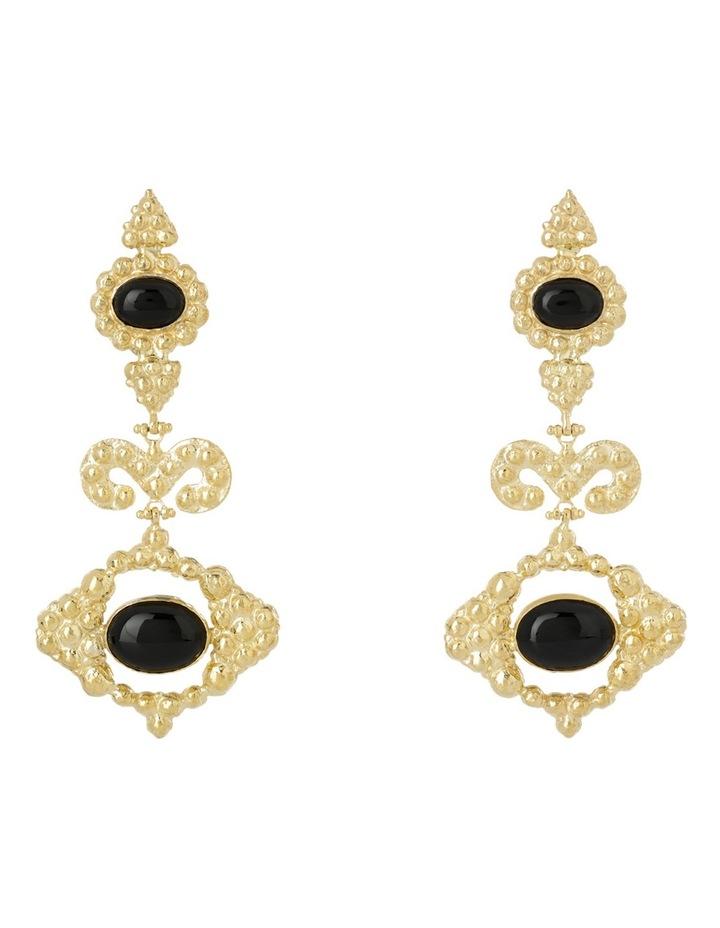 Delphine Black Earrings image 1