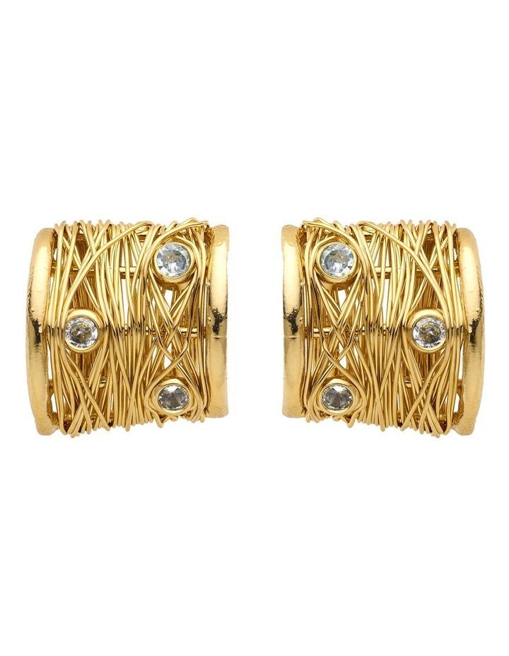 Gold Hoop Earrings image 1