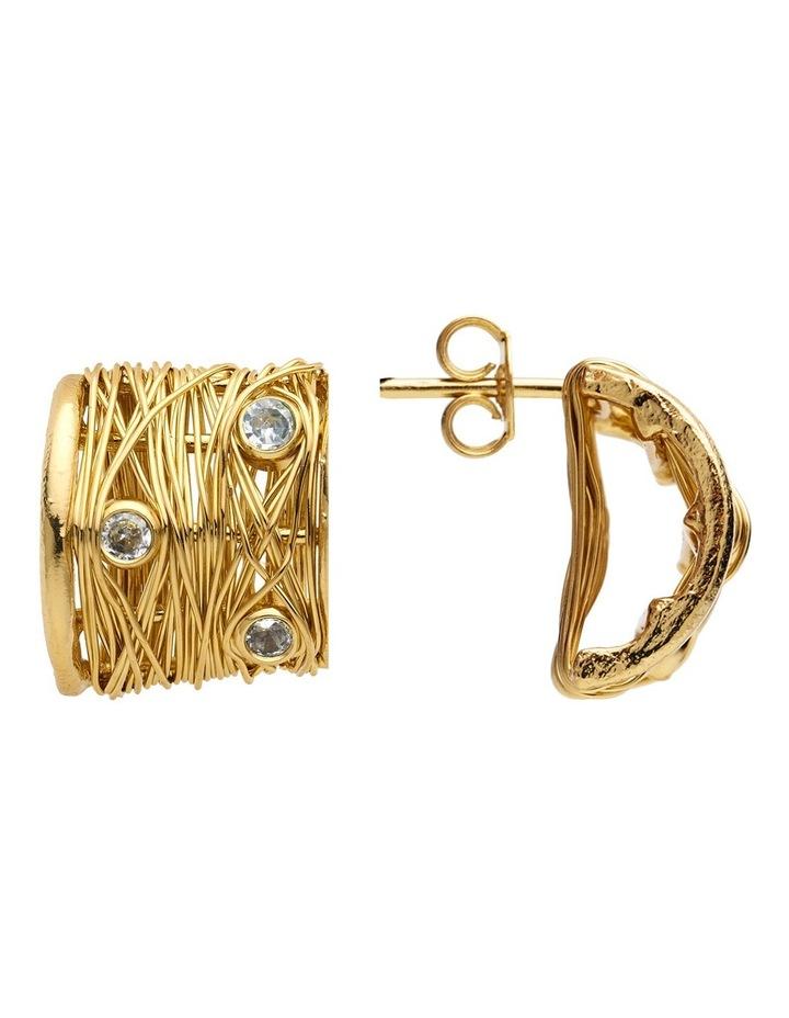 Gold Hoop Earrings image 3