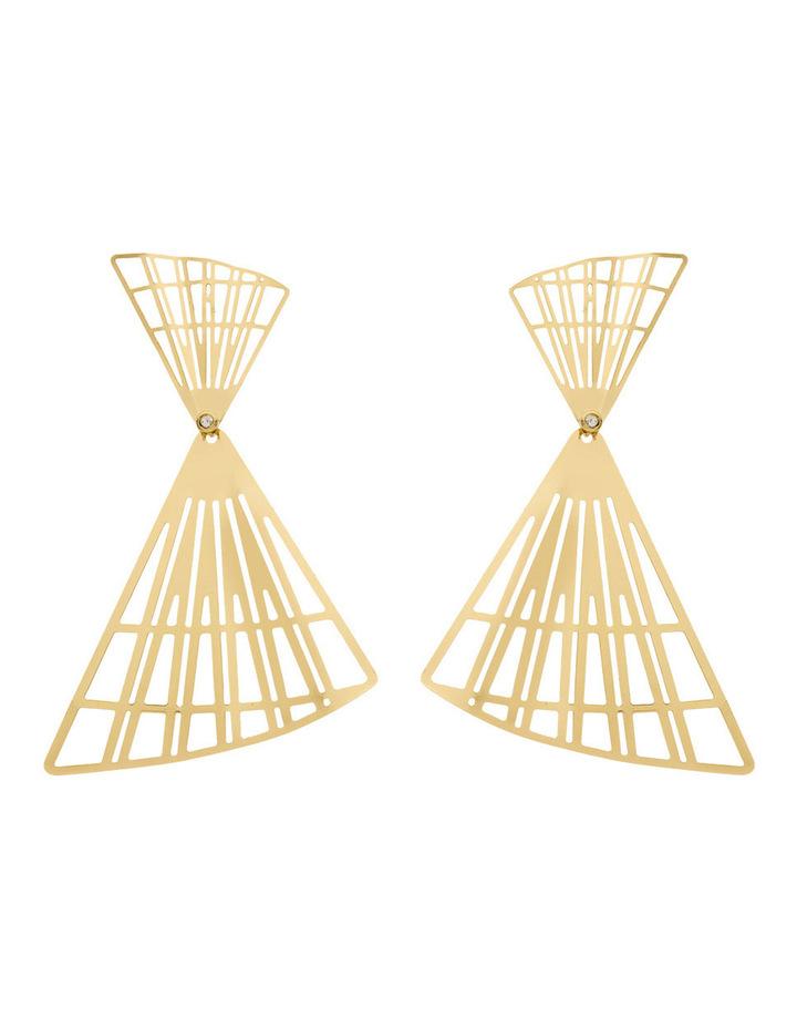 Gold Double Fans image 1