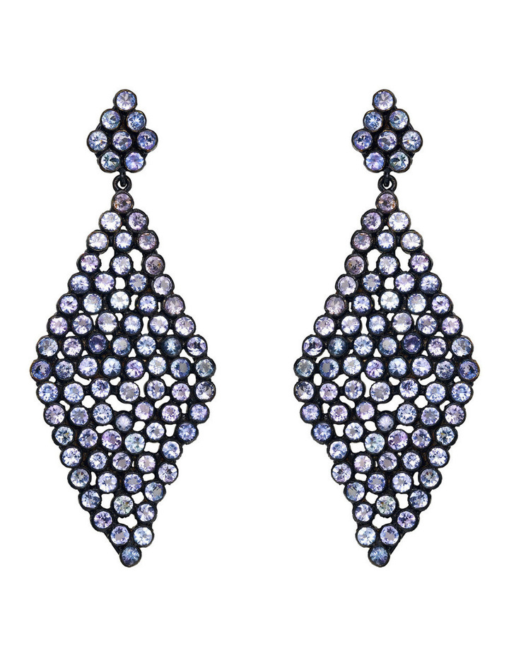 Gemstone Earrings Blue image 1