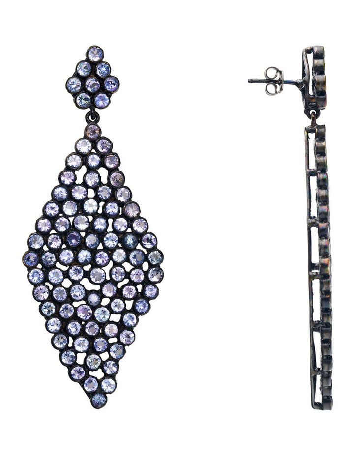 Gemstone Earrings Blue image 3