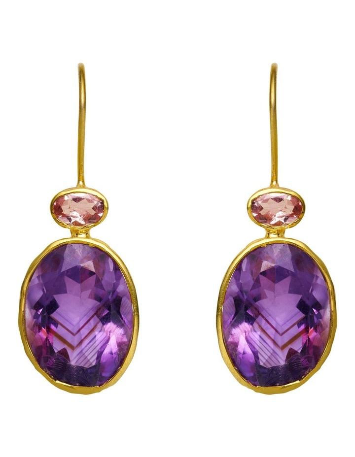 Gemstone Earrings Purple image 1