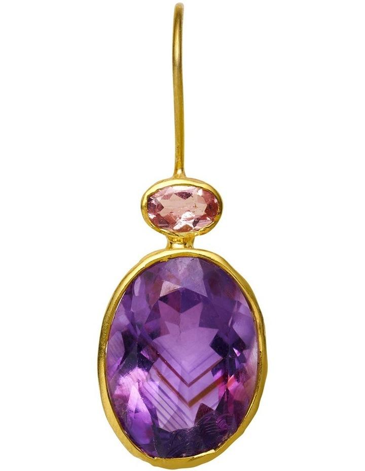 Gemstone Earrings Purple image 2