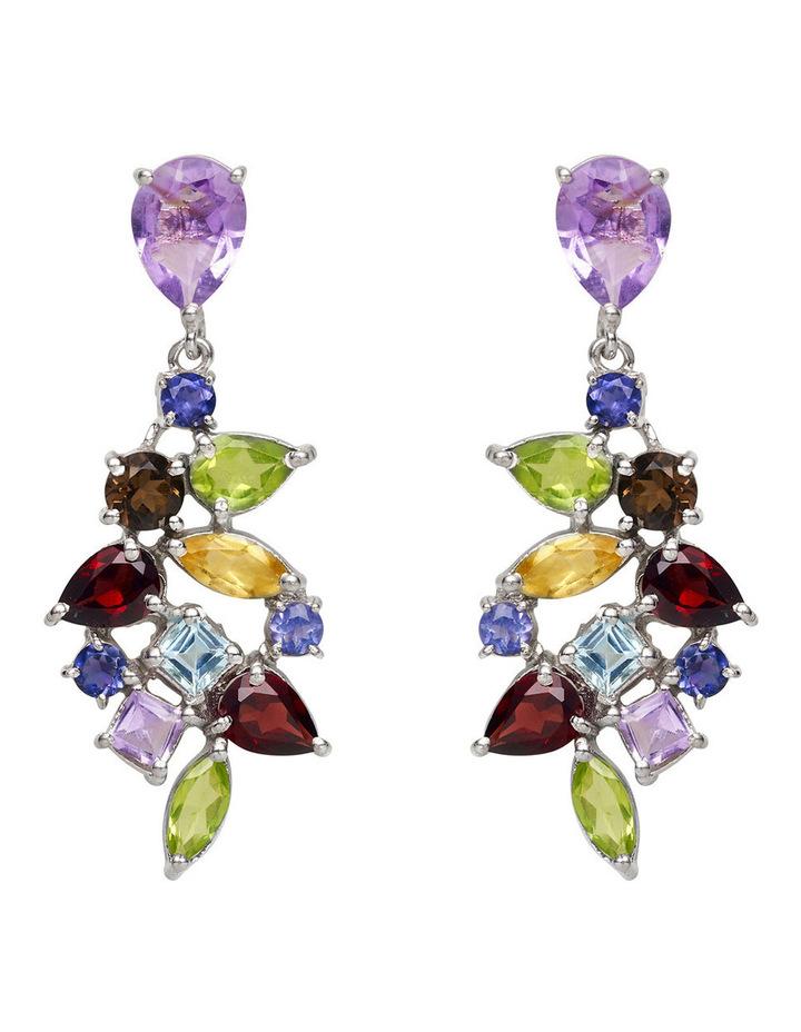 Gemstone Earrings Multi image 1
