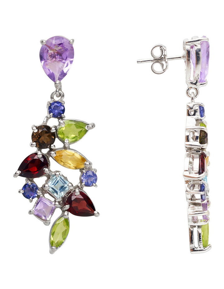 Gemstone Earrings Multi image 3