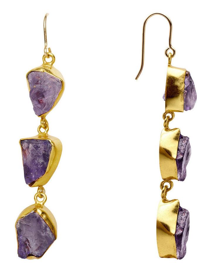 Gemstone Earrings Purple image 3