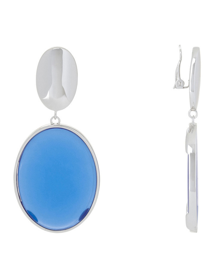 Azure Clip Earrings image 2