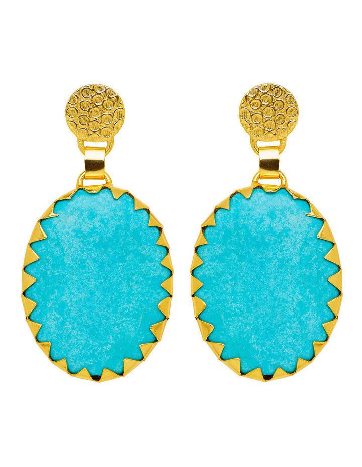 Howlite Gold Plate Earrings image 1