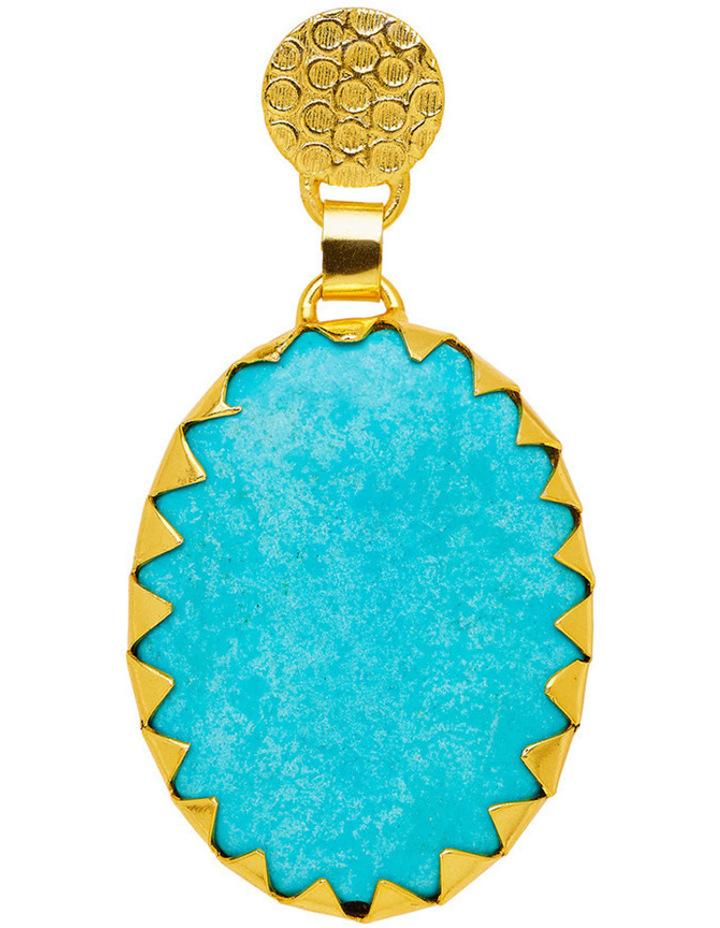 Howlite Gold Plate Earrings image 2