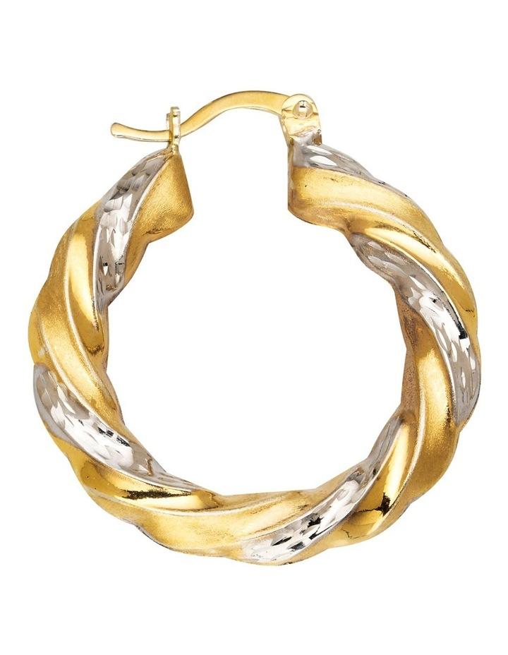 Sterling Twist Hoop Earrings with Gold Plate image 2