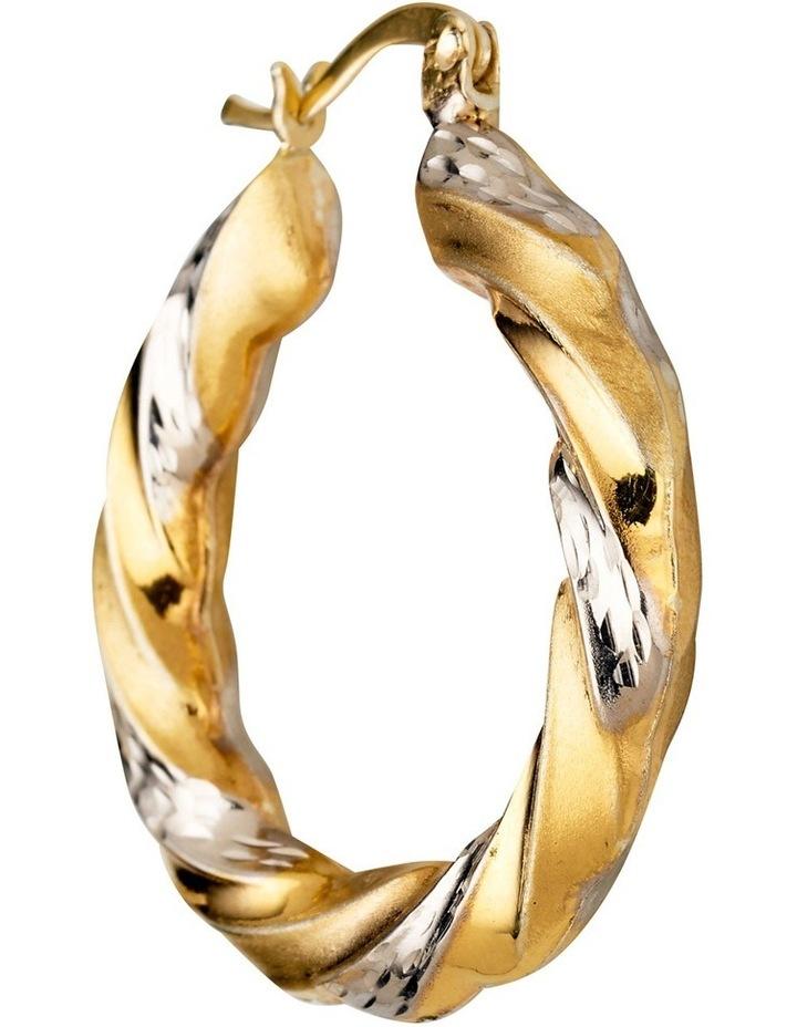 Sterling Twist Hoop Earrings with Gold Plate image 3