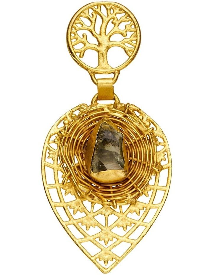 Rock Amethyst Gold Plate Earrings image 2