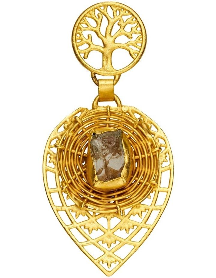 Rock Amethyst Gold Plate Earrings image 3