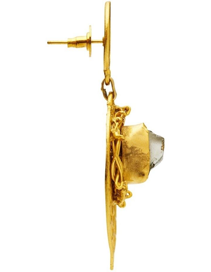 Rock Amethyst Gold Plate Earrings image 4