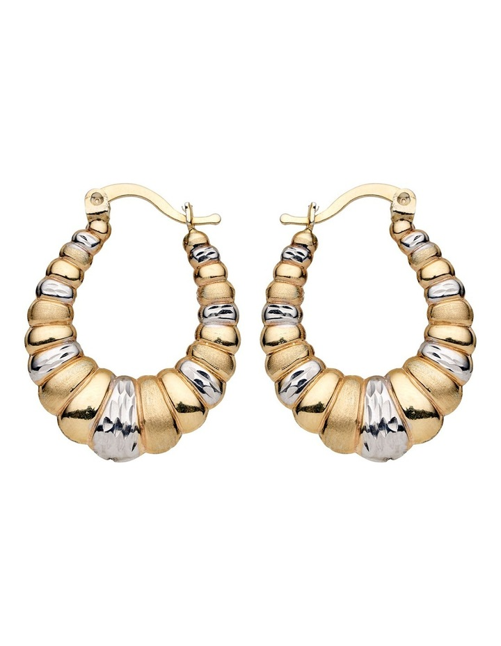 Sterling Gold Plate Hoops image 1