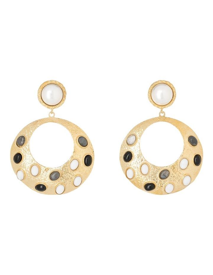 Salsa Earrings Black/White image 1