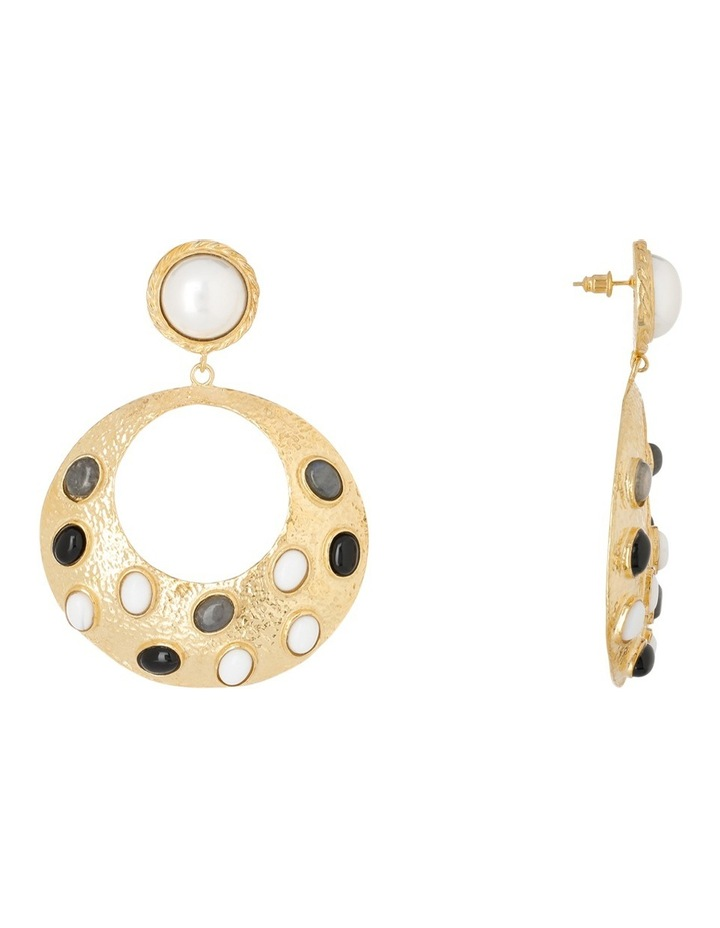 Salsa Earrings Black/White image 2