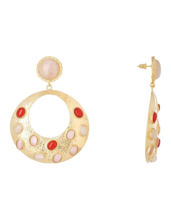Salsa Earrings Pink/Red image 2
