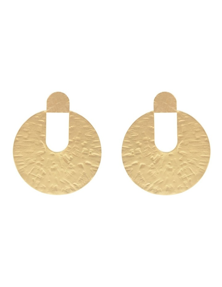 Lidia Hammered Disc Earring image 1