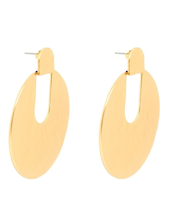 Lidia Hammered Disc Earring image 2