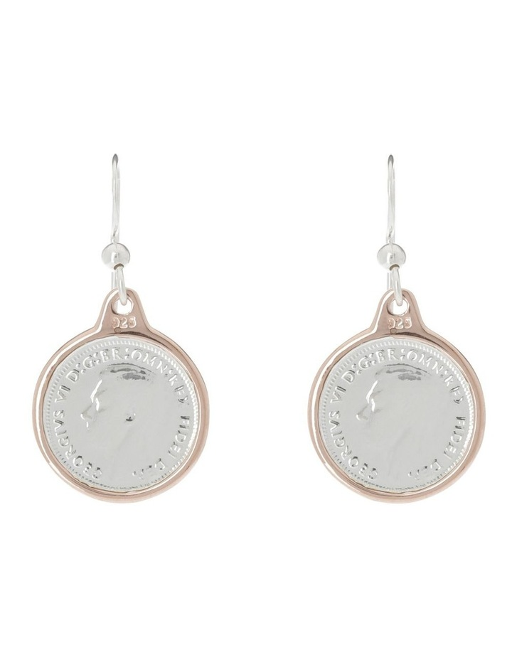 Authentic Threepence Coin Earrings image 1
