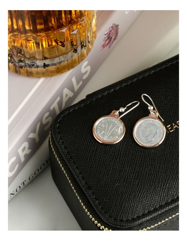 Authentic Threepence Coin Earrings image 3