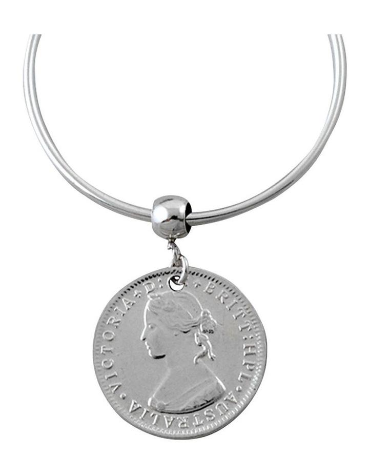Coin hoop earrings image 2