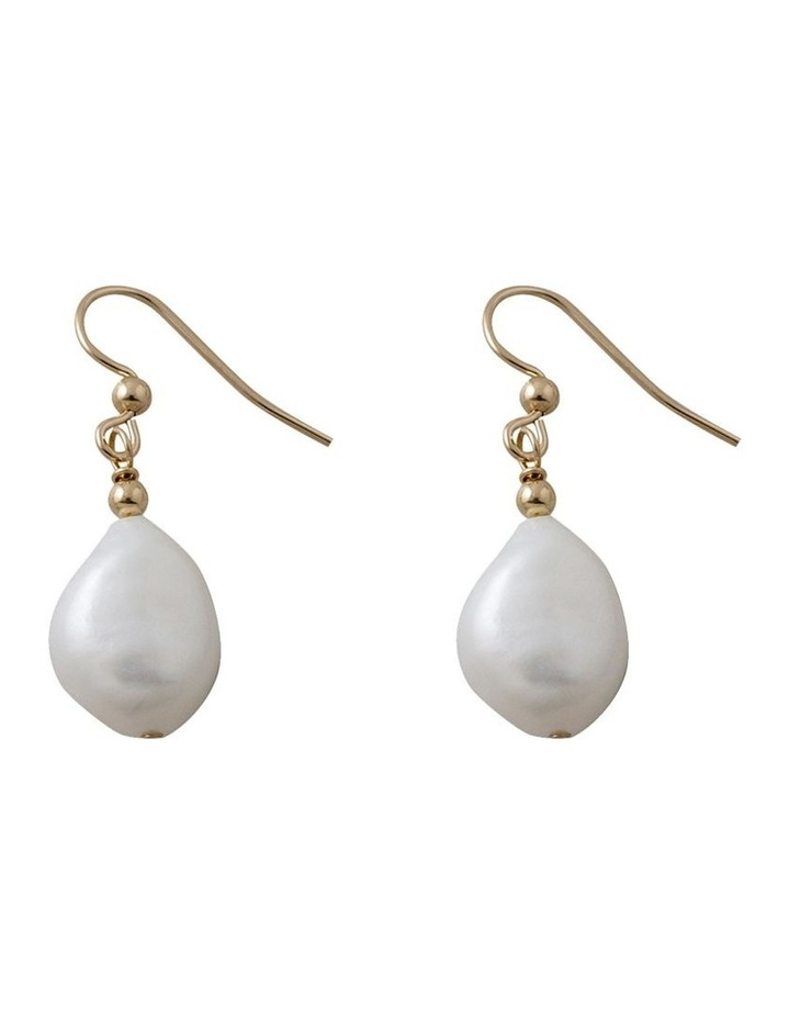 Yellow Baroque Pearl Earrings image 1