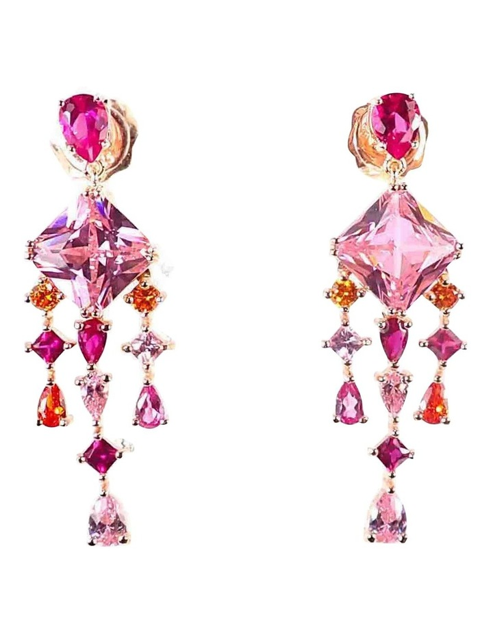 Luxe Ruby Jewel Earrings image 1