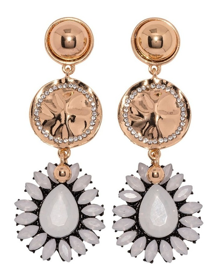 White Aida Earrings image 1
