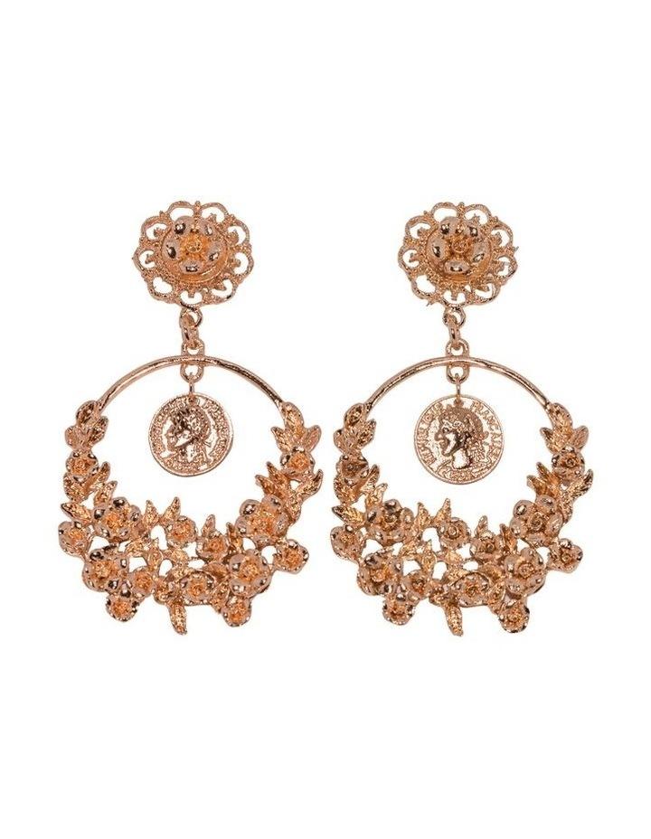 Gold Poppy Earrings image 1