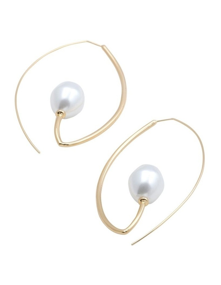 Clarity Baroque Pearl Earring image 2