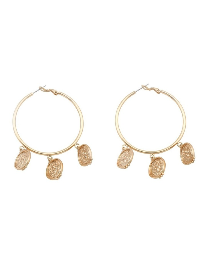 Agnes Coin Hoop Earring image 1
