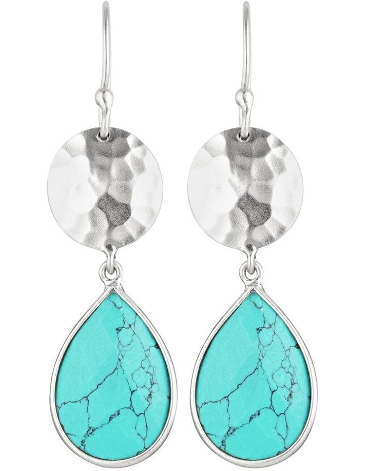 Mika Teardrop Disc Earring image 1