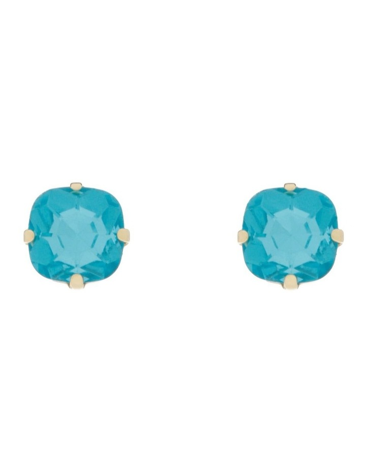 Greer Blue Earrings - Blue Crystal/Champagne Gold image 1
