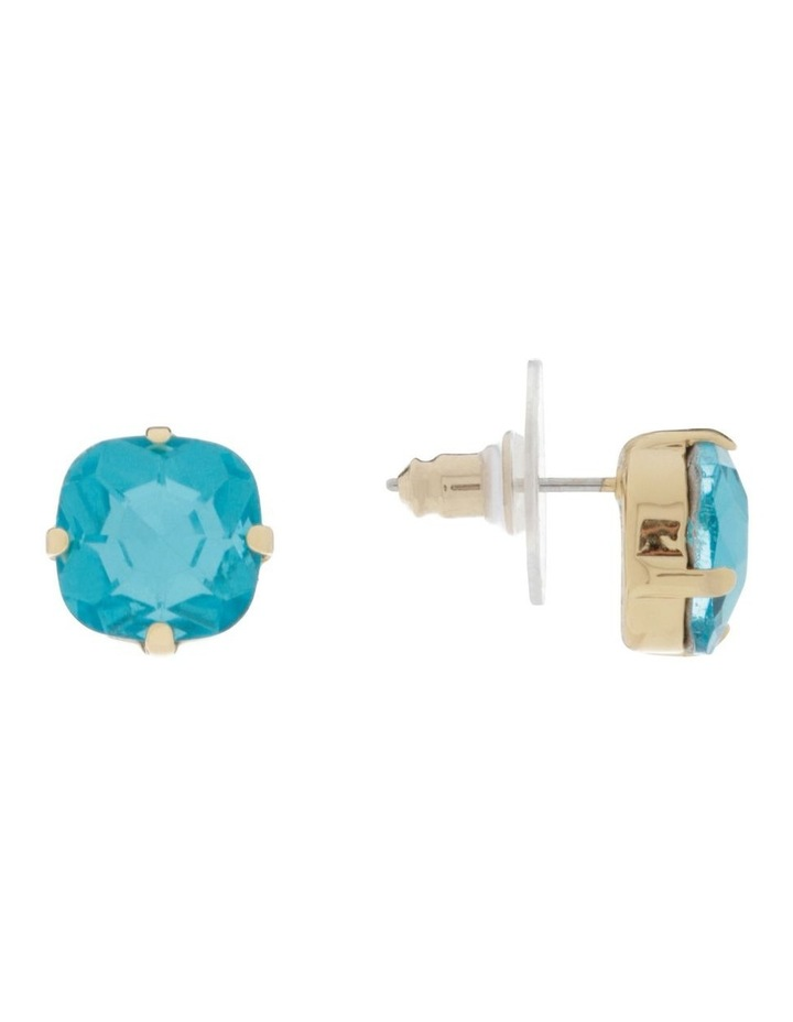 Greer Blue Earrings - Blue Crystal/Champagne Gold image 2
