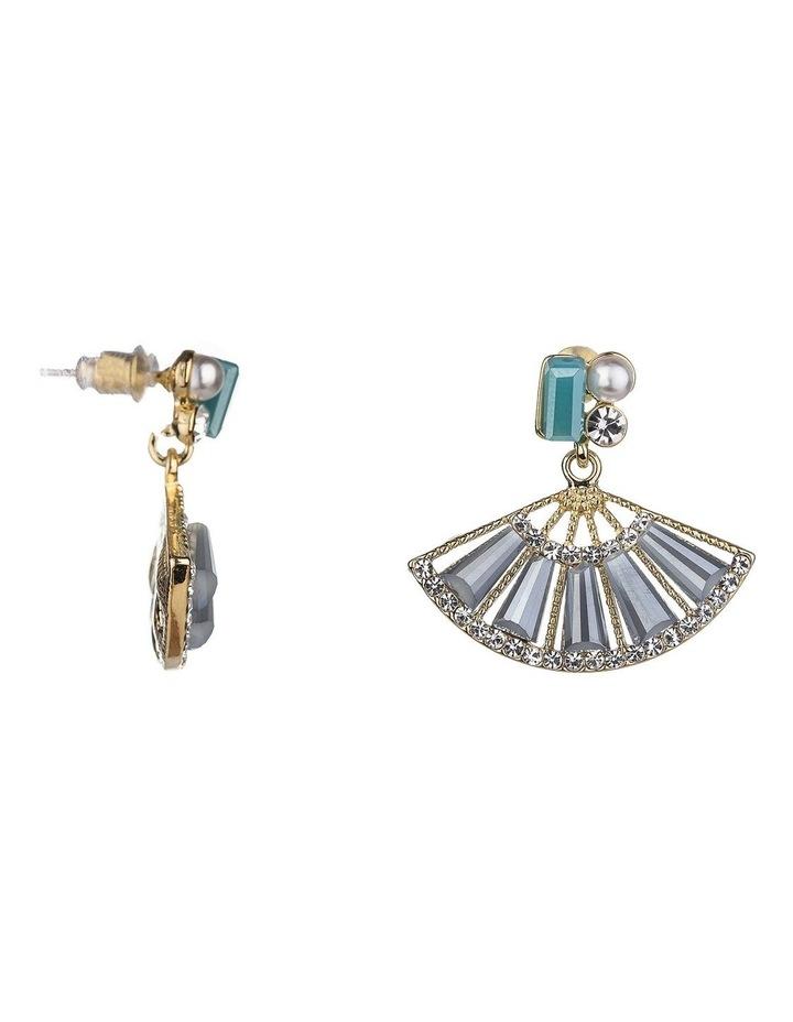 Drop Fan Shaped Earrings image 1
