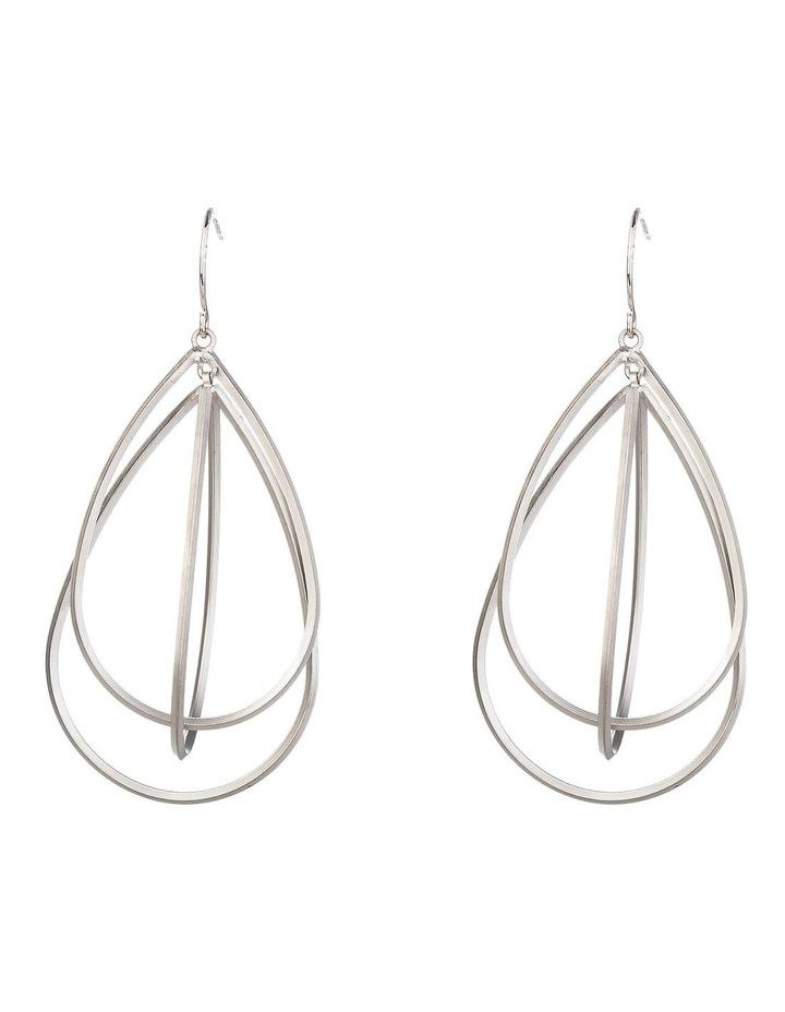 Matt Drop Pendulum Earrings image 1